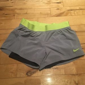 Lined dry-fit running shorts
